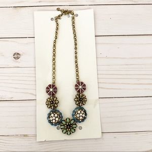 NEW Multi Color Flower Necklace